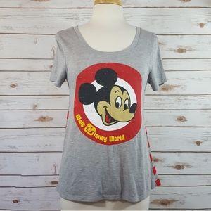 Disney Parks   Mickey Striped Graphic Tee